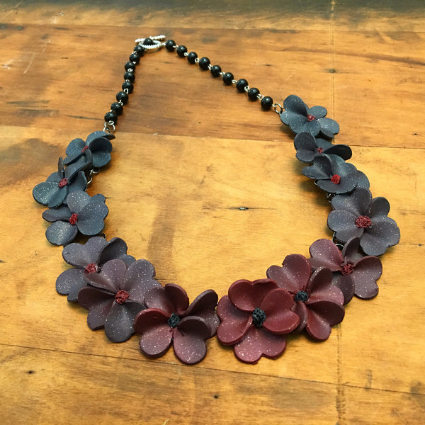 TUTORIAL DOWNLOAD: Ombre Floral Lei Polymer Chain Necklace