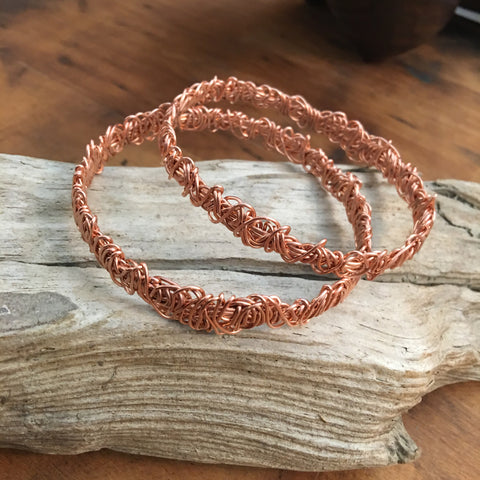 Freeform Copper Bangle Bracelet Class Thursday February 8th 6:00-8:00 pm