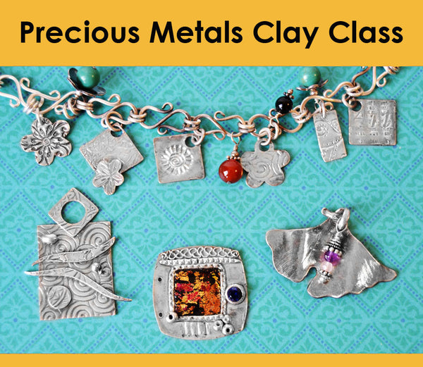 Sterling Silver Clay Impressions PMC Class Tues, Dec. 15th, 6:00-9:00pm