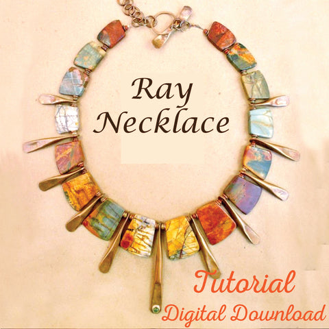 Trapezoidal Ray Necklace Tutorial Digital Download