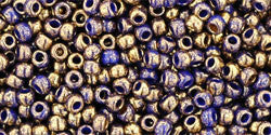 Round 11/0  Toho Glass Seed Bead Gilded Marble Blue
