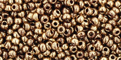 Round 11/0  Toho Glass Seed Bead Gilded Marble Brown