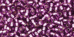 Round 11/0  Toho Glass Seed Bead Silver-Lined Lt Grape