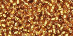 Round 11/0  Toho Glass Seed Bead Silver-Lined Topaz