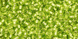Round 11/0  Toho Glass Seed Bead Silver-Lined Lime Green