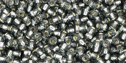 Round 11/0  Toho Glass Seed Bead Silver-Lined Gray
