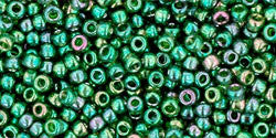 Round 11/0  Toho Glass Seed Bead Gold-Lustered Emerald