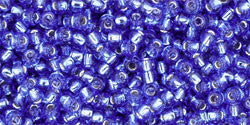 Round 11/0  Toho Glass Seed Bead Silver-Lined Sapphire
