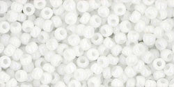 Round 11/0  Toho Glass Seed Bead Opaque White