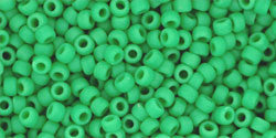 Round 11/0  Toho Glass Seed Bead Opaque-Frosted Shamrock