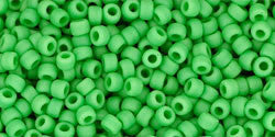 Round 11/0  Toho Glass Seed Bead Opaque-Frosted Mint Green