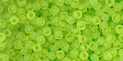 Round 11/0  Toho Glass Seed Bead Transparent-Frosted Lime Gr