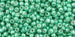 Round 11/0  Toho Glass Seed Bead Galvanized Green Teal