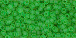 Round 11/0  Toho Glass Seed Bead Transparent-Frosted Peridot
