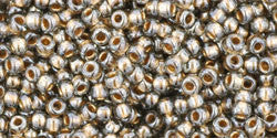 Round 11/0  Toho Glass Seed Bead Gold-Lined Black Diamond