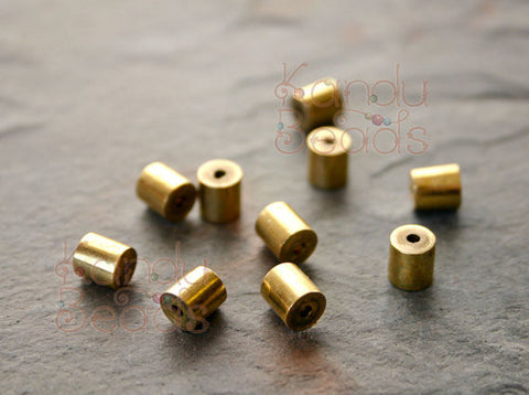 brass metal tube beads 5x8mm