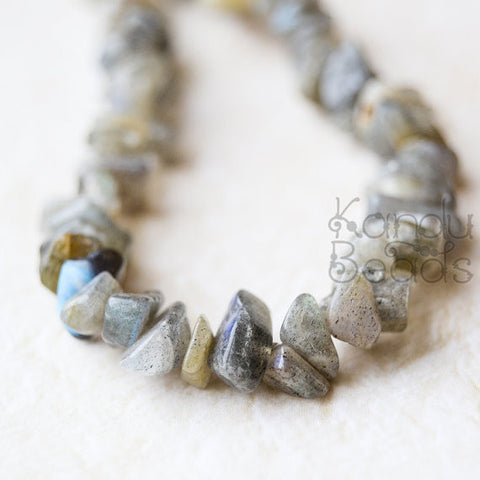 "Labradorite Small Chip Beads 6-8mm LONG 36"" strand"
