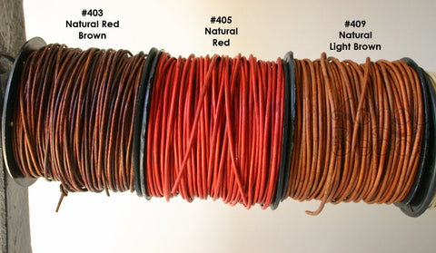 3 feet Natural Dyed Leather Cord, Leather Cording, Dyed Leather, One Yard CHOOSE YOUR COLOR