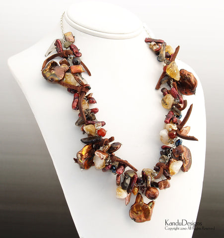 Tumbled Leaves Necklace