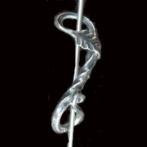 Stainless Steel Leaf Large Shawl Pin