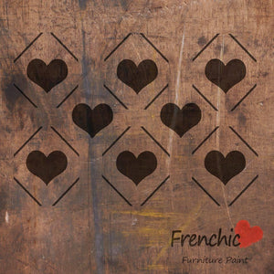 Sydän - Diamond Hearts - Stencils - Frenchic Finland