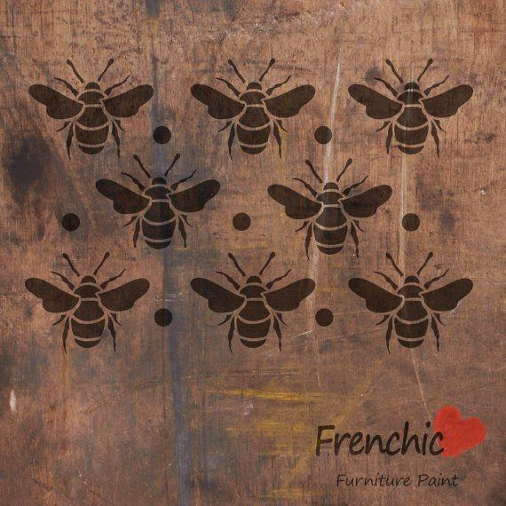 Mehiläiset - Busy Bees - Stencils - Frenchic Finland