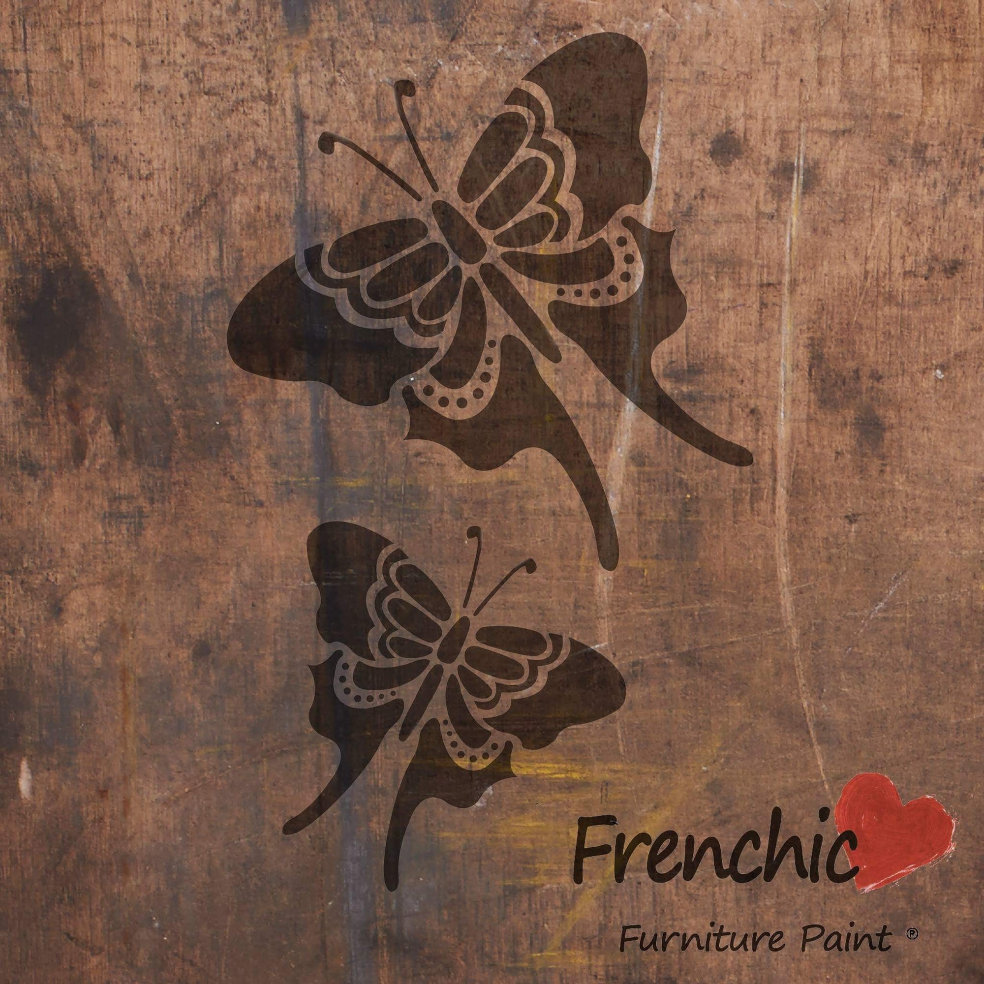 Perhoset - Butterflies - Stencils - Frenchic Finland