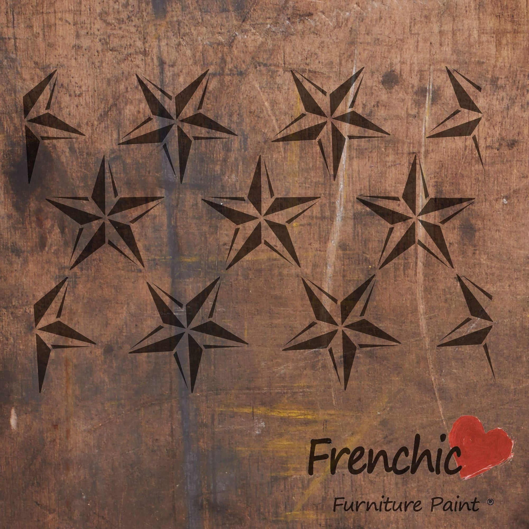 Tähti - Barn Star Repeat - Stencils - Frenchic Finland