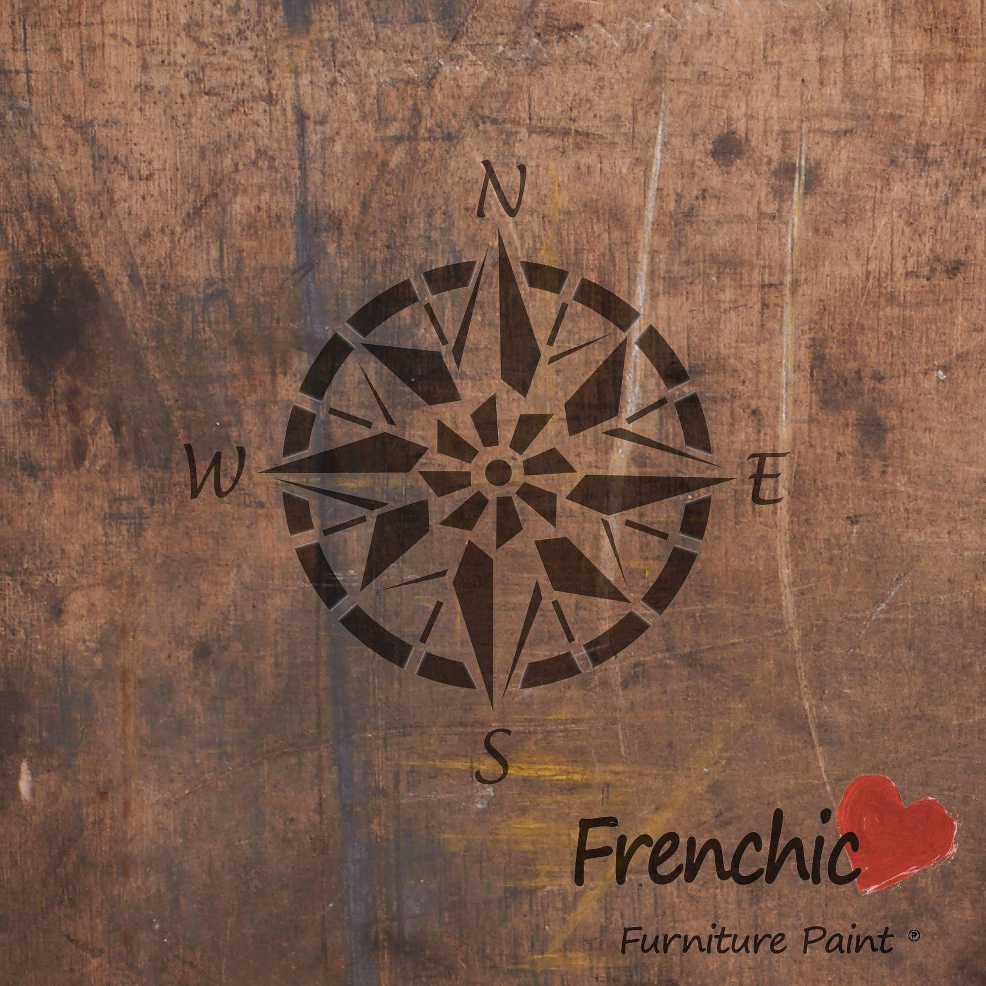 Kompassi - Compass Point - Stencils - Frenchic Finland