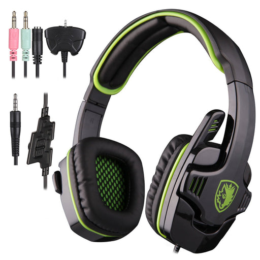 SADES SA-708 GT Stereo HiFi Gaming Headset Headphone with Microphone for PS4 Xbox360 PC Mac iPhone SmartPhone Laptop(Green)