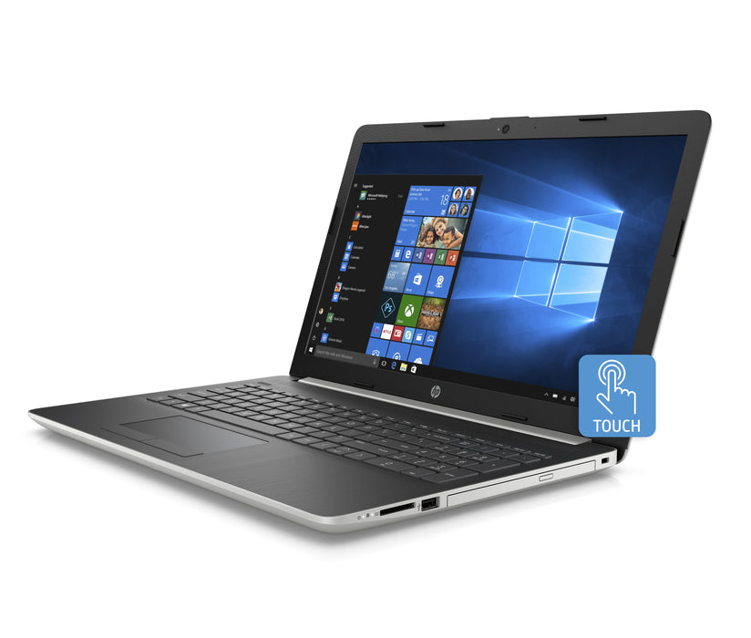 "HP 15-da053wm 15.6"" Touch Laptop, Windows 10 Home, Intel Core i5-8250U Processor, 4GB SDRAM Memory, 16GB IntelOptane Memory, 1TB Hard Drive, DVD, Natural Silver"