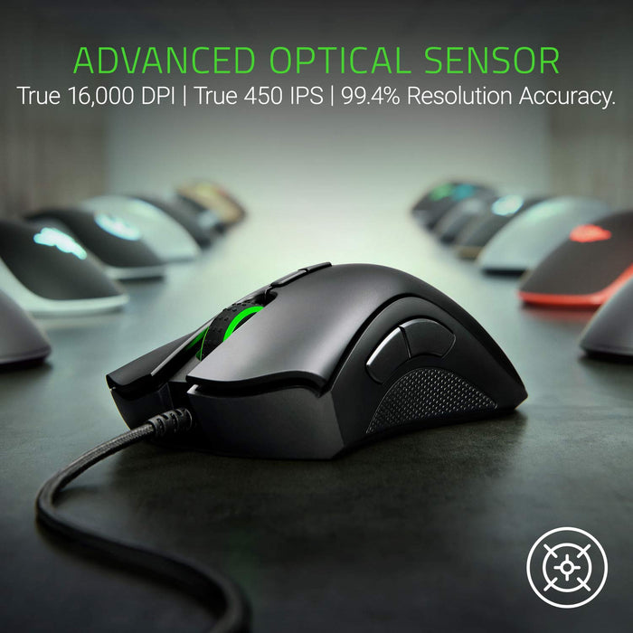 Razer DeathAdder Elite: True 16,000 5G Optical Sensor - Razer Mechanical Mouse Switches (Up to 50 Million Clicks)