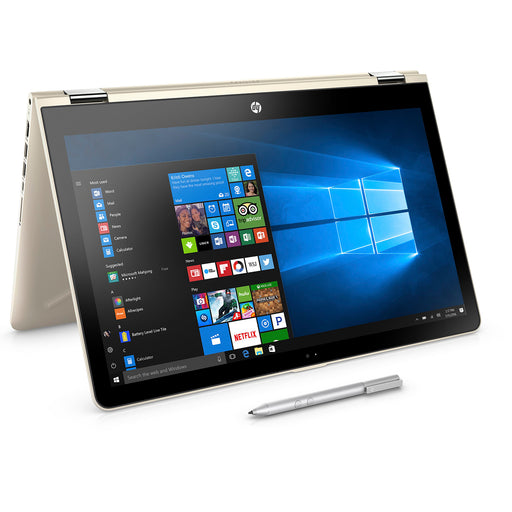 "HP Pavilion 15-br082wm X360 15.6"" Touchscreen 2 in 1 Laptop, Windows 10, Intel Corei5-7200U Processor, 8GB Memory, 1TB Hard Drive, and Active Pen Included, Silk Gold"