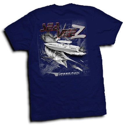 Navy Blue SeaVee Z Short Sleeve T-Shirt