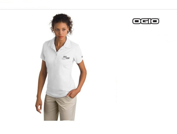 OGIO Women's Jewel White Polo Shirt - 80% OFF FINAL CLOSEOUT SALE!