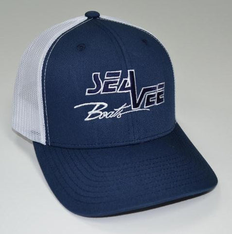 Sea Vee Blue Trucker Style Hat