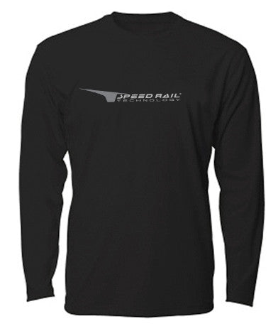 Black Denali Sea Vee Z Dry Fit Long Sleeve Shirt