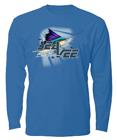 Sea Vee Blue Billfish Long Sleeve T-Shirt