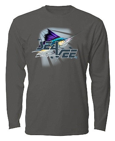 Sea Vee Charcoal Billfish Long Sleeve T-Shirt