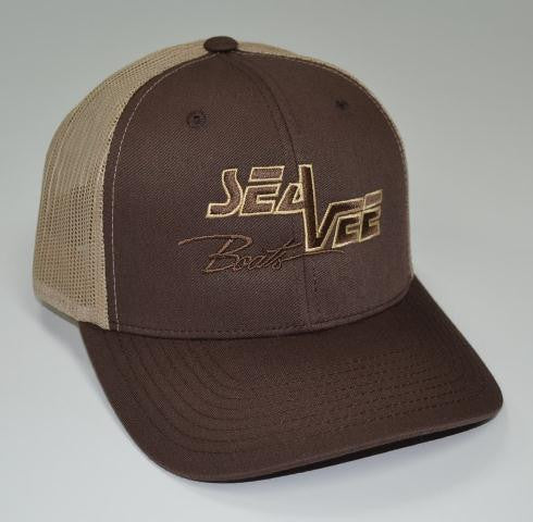 Sea Vee Khaki Trucker Style Hat - 25% off SALE!