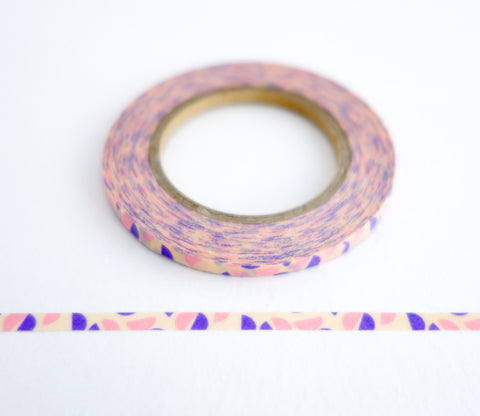Small Semicircle Pink and Purple - Ultra Thin Washi Tape