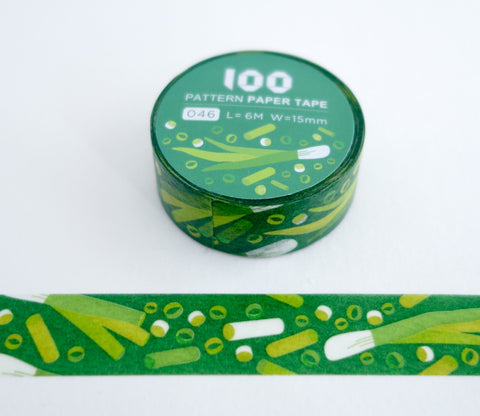 Cooking Scallions - FunTape 100 Pattern Washi Tape