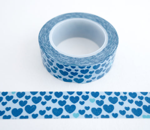 Blue Hearts Washi Tape