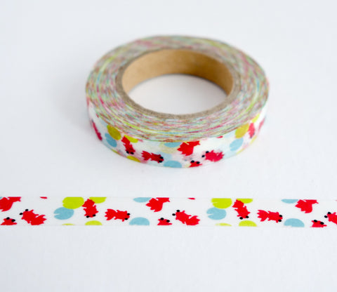 Red Goldfish - Thin Washi Tape