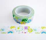 Bright Spring Flowers Washi Tape