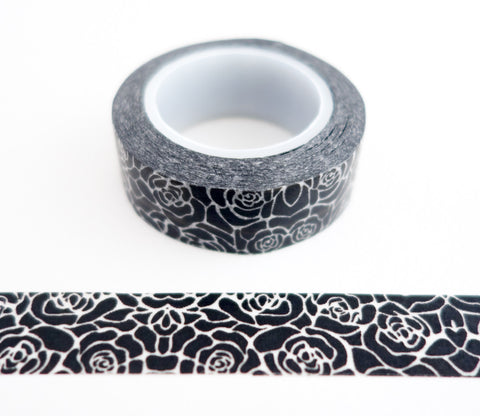 Black Roses Washi Tape