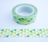 Modern Green Triangles Washi Tape