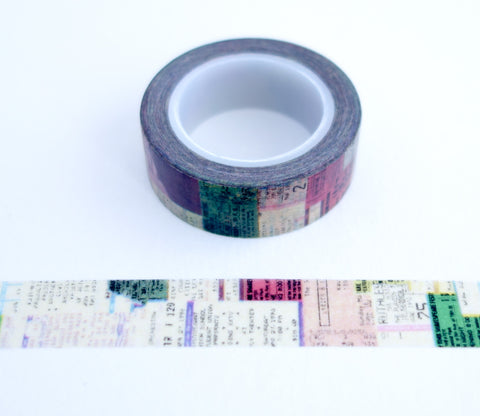Ticket Stub Collage Washi Tape