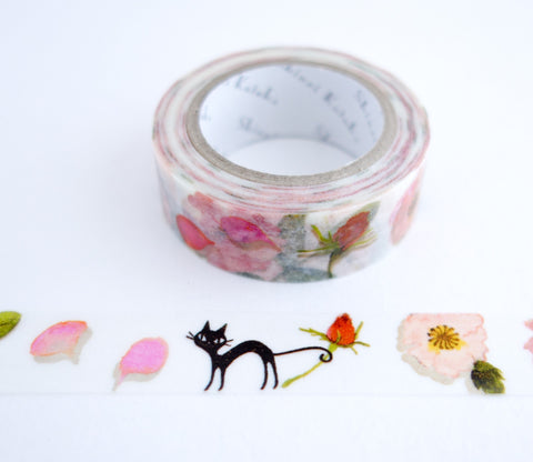 Roses and Cats - Shinzi Katoh Washi Tape