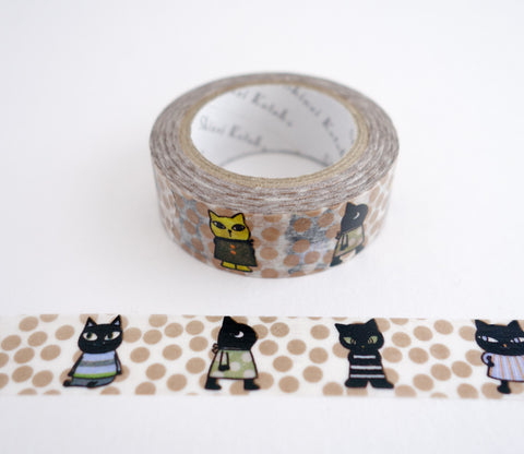 Curious Cat - Gold Shinzi Katoh Washi Tape